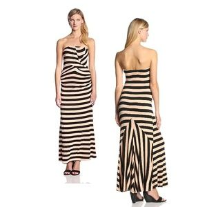 Ella Moss Isla Striped Jersey Strapless Maxi Dress
